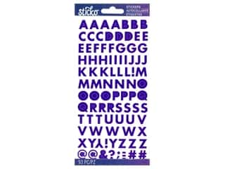 scrapbooking & paper crafts: EK Sticko Stickers ABC Small Futura Iridescent Purple