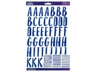 scrapbooking & paper crafts: EK Sticko Stickers ABC Large Le Gourmet Iridescent Blue