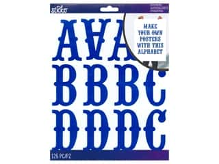 EK Sticko Stickers ABC Extra Large Carnival Iridescent Blue