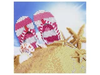 craft & hobbies: Diamond Art Kit 8 in. x 8 in. Beginner Flip Flops