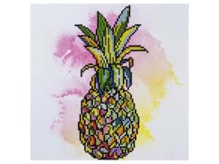 diamond art: Diamond Art Kit 12 in. x 12 in. Intermediate Pineapple