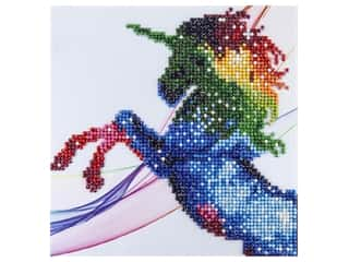 craft & hobbies: Diamond Art Kit 8 in. x 8 in. Sparkle Galaxy Unicorn