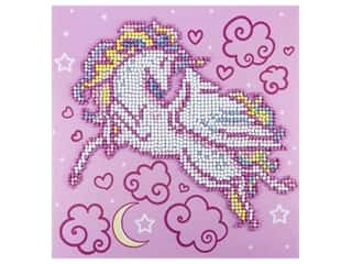 craft & hobbies: Diamond Art Kit 8 in. x 8 in. Sparkle Flying Unicorn
