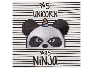 Diamond Art Kit 8 in. x 8 in. Sparkle Ninja Panda Corn