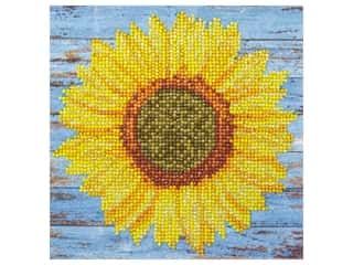 diamond art: Diamond Art Kit 8 in. x 8 in. Beginner Sunflower