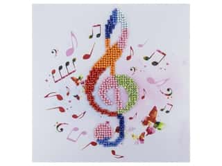 craft & hobbies: Diamond Art Kit 8 in. x 8 in. Beginner Treble Clef