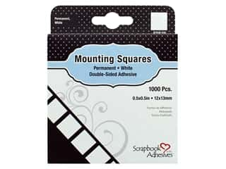 glues, adhesives & tapes: Scrapbook Adhesives By 3L Mounting Squares Permanent 1000 pc