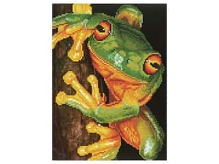 beading & jewelry making supplies: Diamond Dotz Facet Art Kit Intermediate Green Tree Frog