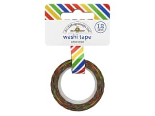 scrapbooking & paper crafts: Doodlebug Washi Tape 5/8 in. x 12 yd. Back To School School Stripe