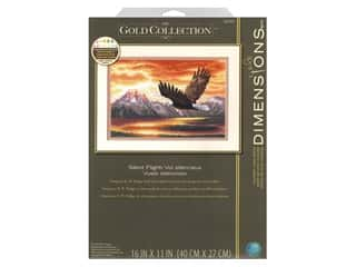 yarn: Dimensions Counted Cross Stitch Kit 16 x 11 in. Silent Flight