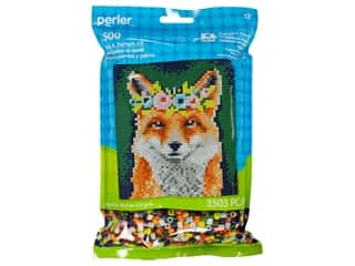 beading & jewelry making supplies: Perler Fused Bead Kit Pattern Bag Flower Crown Fox