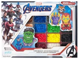 beading & jewelry making supplies: Perler Fused Bead Kit Deluxe Marvel Avengers Infinity War 4500pc