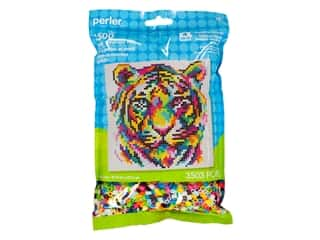 beading & jewelry making supplies: Perler Fused Bead Kit Pattern Bag Rainbow Tiger