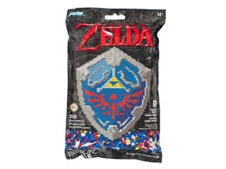 beading & jewelry making supplies: Perler Fused Bead Kit Legend of Zelda Hylian Shield 3500pc