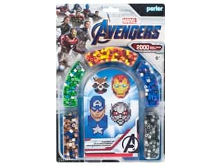 beading & jewelry making supplies: Perler Fused Bead Kit Marvel Avengers 4 2000pc
