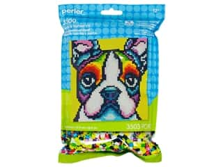 beading & jewelry making supplies: Perler Fused Bead Kit Pattern Bag Rainbow Terrier
