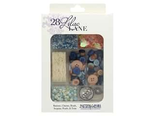 craft & hobbies: Buttons Galore 28 Lilac Lane Embellishment Kit Royal Celebration