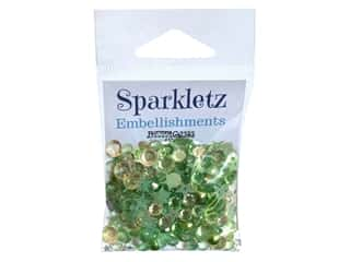 Buttons Galore Embellishments Sparkletz Winters Evergreen (3 sets)