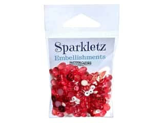 Buttons Galore Embellishments Sparkletz Peppermint Jazz (3 sets)