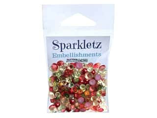 craft & hobbies: Buttons Galore Embellishments Sparkletz Home Spun Holiday (3 sets)