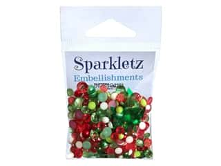 craft & hobbies: Buttons Galore Embellishments Sparkletz Christmas Carnival (3 sets)