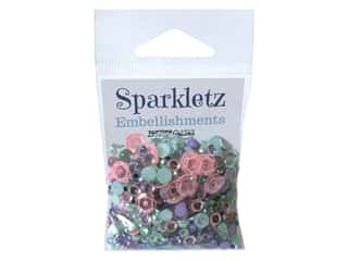 Buttons Galore Embellishments Sparkletz Mermaid (3 sets)