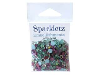 Buttons Galore Embellishments Sparkletz Aloha (3 sets)