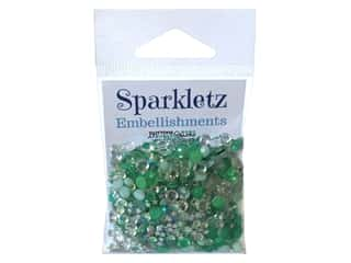 Buttons Galore Embellishments Sparkletz Aquamarine (3 sets)