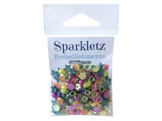 craft & hobbies: Buttons Galore Embellishments Sparkletz Rainbow (3 sets)