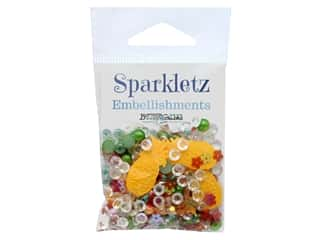 Buttons Galore Embellishments Sparkletz Tropical Delight