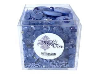 craft & hobbies: Buttons Galore 28 Lilac Lane Shaker Mix Periwinkle