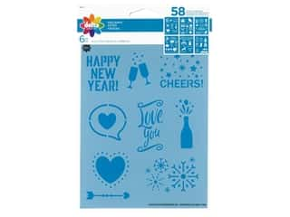 craft & hobbies: Delta Stencil 6 in. x 7.75 in. Holidays 6 pc