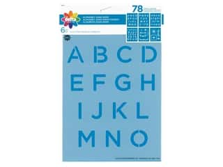craft & hobbies: Delta Stencil 6 in. x 7.75 in. Sans Serif 6 pc