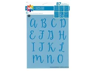craft & hobbies: Delta Stencil 6 in. x 7.75 in. Alphabet Script 6 pc