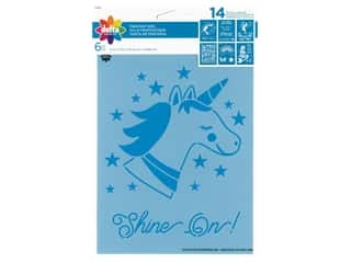 craft & hobbies: Delta Stencil 6 in. x 7.75 in. Fantasy Girl 6 pc