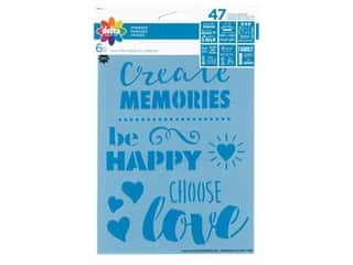 craft & hobbies: Delta Stencil 6 in. x 7.75 in. Phrases 6 pc