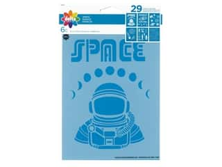 craft & hobbies: Delta Stencil 6 in. x 7.75 in. Space 6 pc