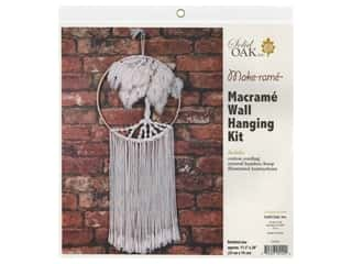 Solid Oak Kit Macrame Wall Hanger Tree