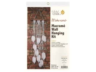 Solid Oak Kit Macrame Wall Hanger Feather