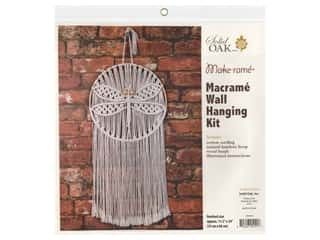 Solid Oak Kit Macrame Wall Hanger Dragonfly
