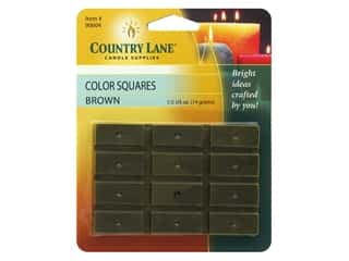 candle will tab: Country Lane Candle Color Squares .5 oz Brown