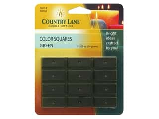 candle will tab: Country Lane Candle Color Squares .5 oz Green