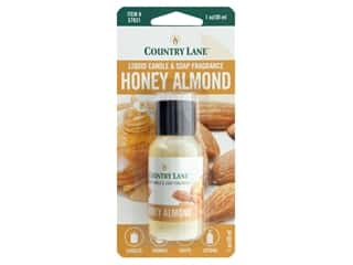 candle scent: Country Lane Liquid Candle & Soap Fragrance Honey Almond 1 oz