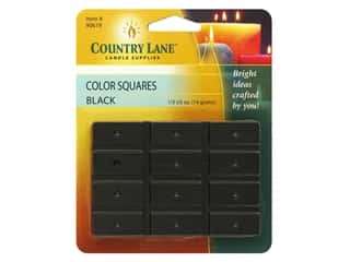 candle will tab: Country Lane Candle Color Squares .5 oz Black