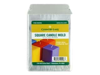 novelties: Country Lane Candle Mold Aluminum 3 in. Square