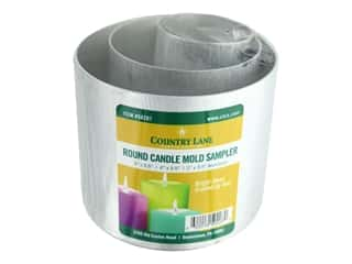 novelties: Country Lane Candle Mold Aluminum Sample Pack Round