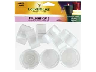 candle wick tab: Country Lane Tealight Cup Polycarbonate 12 pc