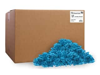craft & hobbies: PA Essentials Crinkle Shred 10 lb. Light Blue