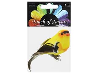 decorative bird: Midwest Design Birds Feather Goldfinch 4 in.