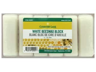 candle wick tab: Country Lane Wax Beeswax Bars 6-1oz White